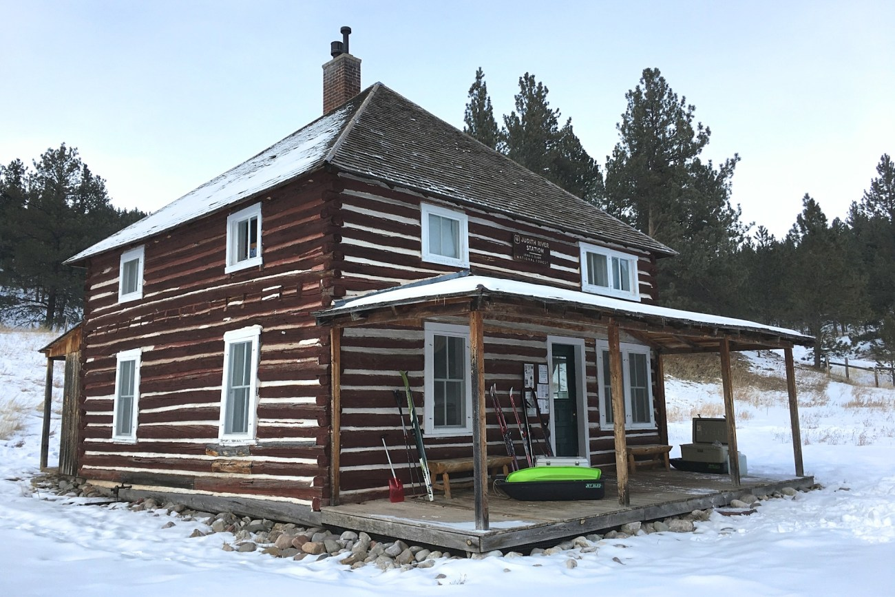 Montana Winter Adventure at the Judith Guard Station