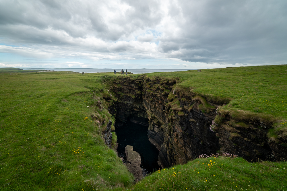 A gloup or collapsed sea cave on Hoy Island