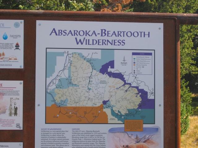 Absaroka-Beartooth Wilderness sign