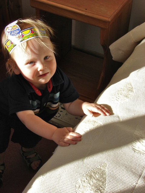 Anders in his Easter headband.