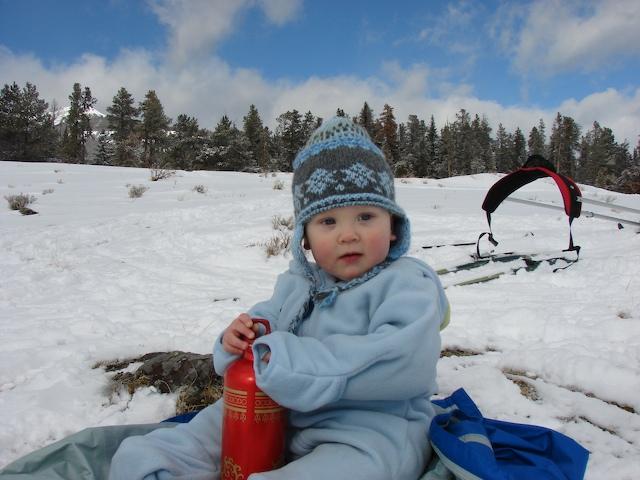 Anders takes a water break.