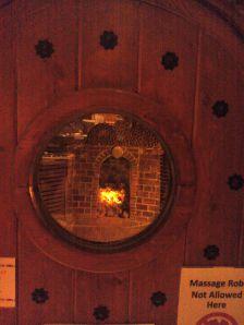 Inside the dome clay sauna