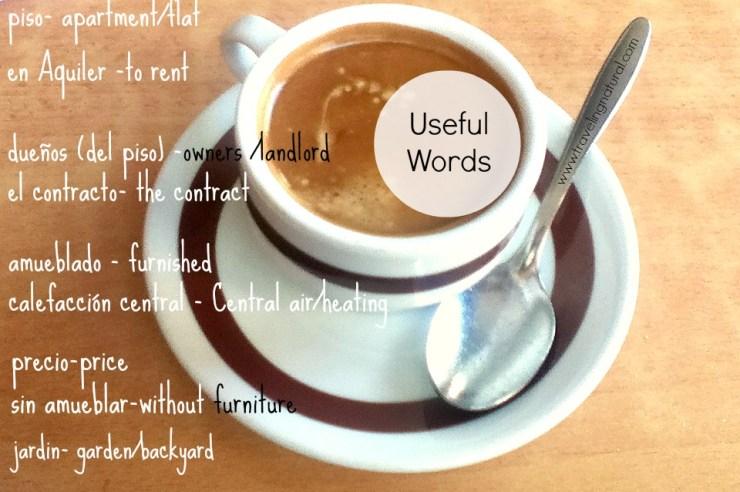 cafe con leche piso words