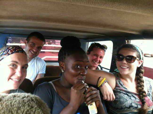Me with other PC Volunteers in a taxi