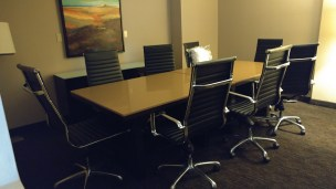 Who expects a conference table in their suite?!