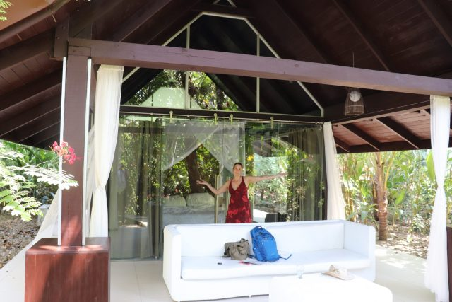 Our bungalow while visiting Uvita and staying at Oxygen Jungle Villas
