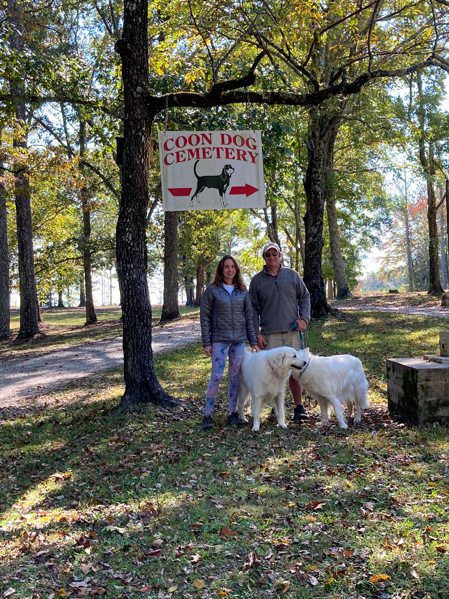 Coon Dog Cemetery near the Natchez Trace Parkway