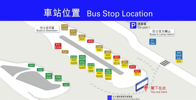 Airport Bus Map
