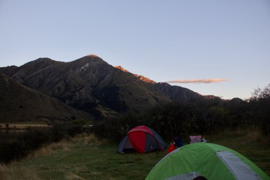 Site + a stranger's tent