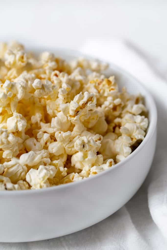 air popped microwave popcorn the