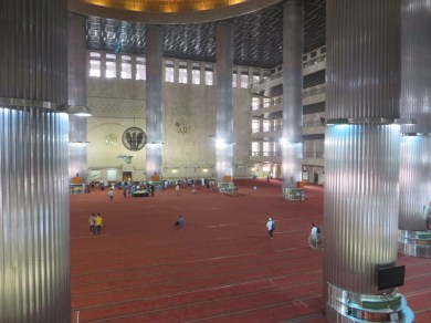 Inside the largest mosque of Southeast Asia