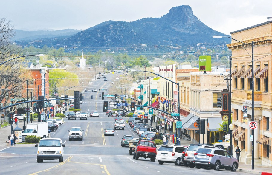 Main street view of Prescott, one of the best small towns in Arizona