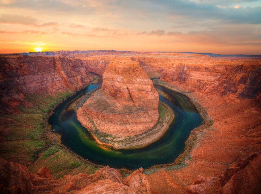 View of Horseshoe Bend near Page, one of the best small towns in Arizona.