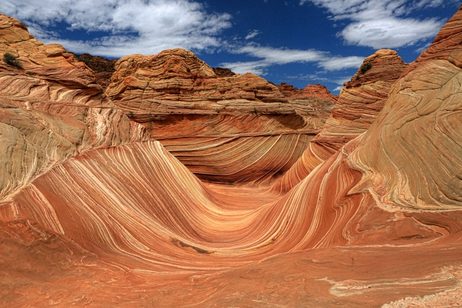 The Wave formation at Vermillion Cliffs near Page, one of the best small towns in Arizona.