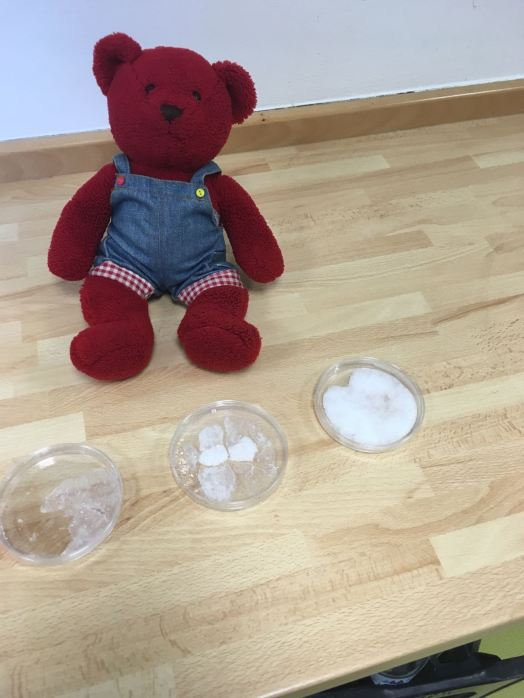 In science, Jerry learned about water, snow and ice.
