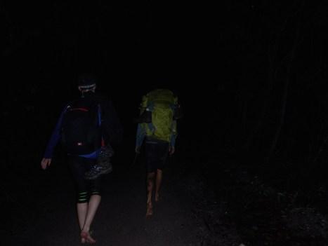 Day 5 Nighttime Trek Back to Lençois with Alex