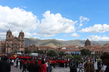 Central Cusco Square During Easter Celebration