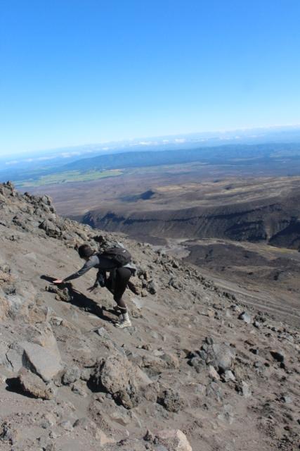"Tongariro Hike - Steep Hike Up ""Mount Doom"""