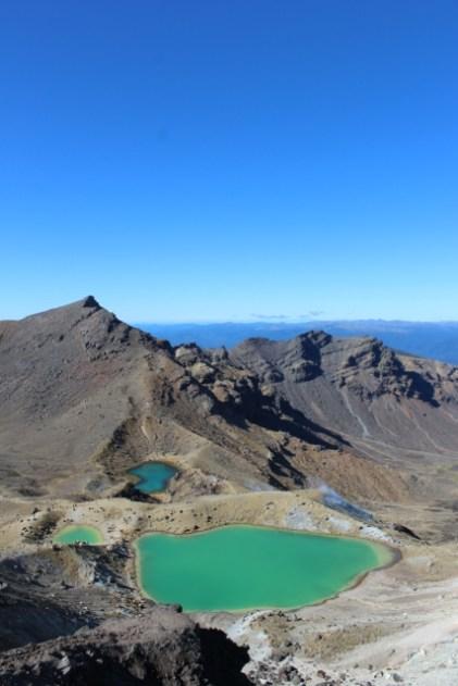 Tongariro Hike - View of Emerald Lakes