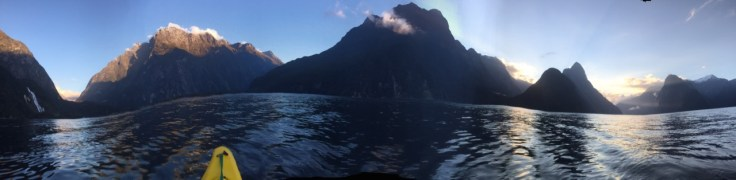 Milford Sound Via Kayak (Waves Creating Issues w/ Panorama)