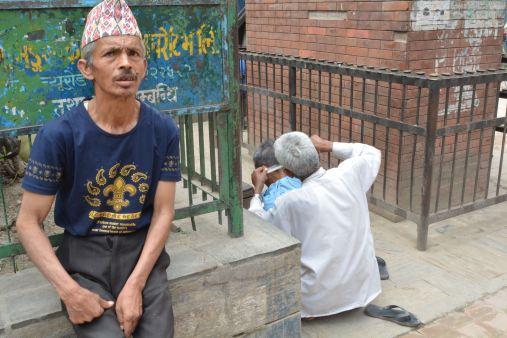 Getting a Haircut on the Streets of Kathmandu