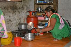 Raja's Wife Cooking Lunch