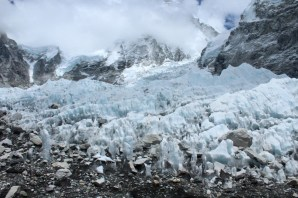 Ice Fall at Base Camp (First Step for Climbers)