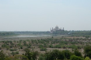 View of the Taj Mahal from Agra's Red Fort