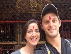 Us After Praying at a Hindu Shrine