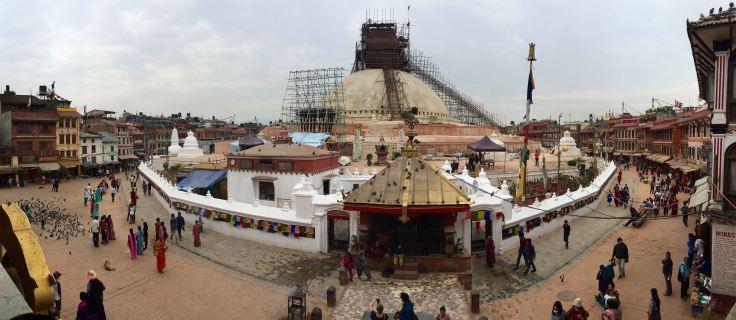 Rebuilding Buddhist Stupa Post-Earthquake
