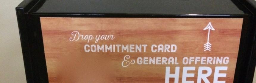 offering box for stewardship