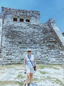 Tiffani standing in front of the ruins in Tulum, Mexico