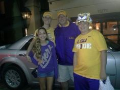 You just gotti love that LSU hat, wow! Thanks Hampton Inn