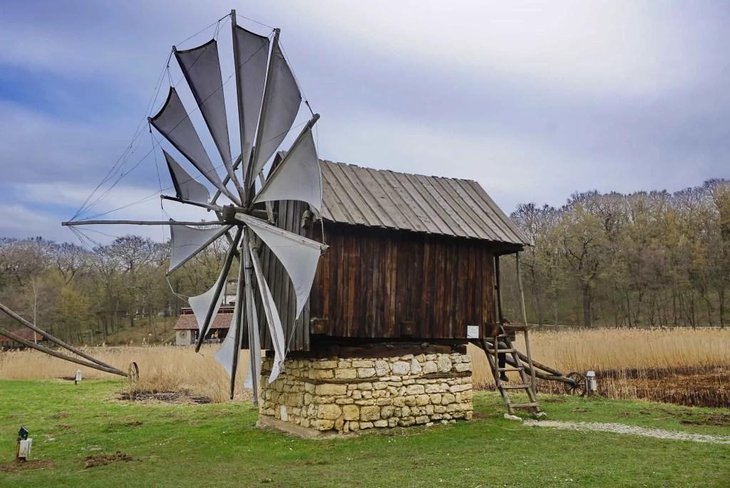 Windmill at Astra Museum Complex in Sibiu, Romania