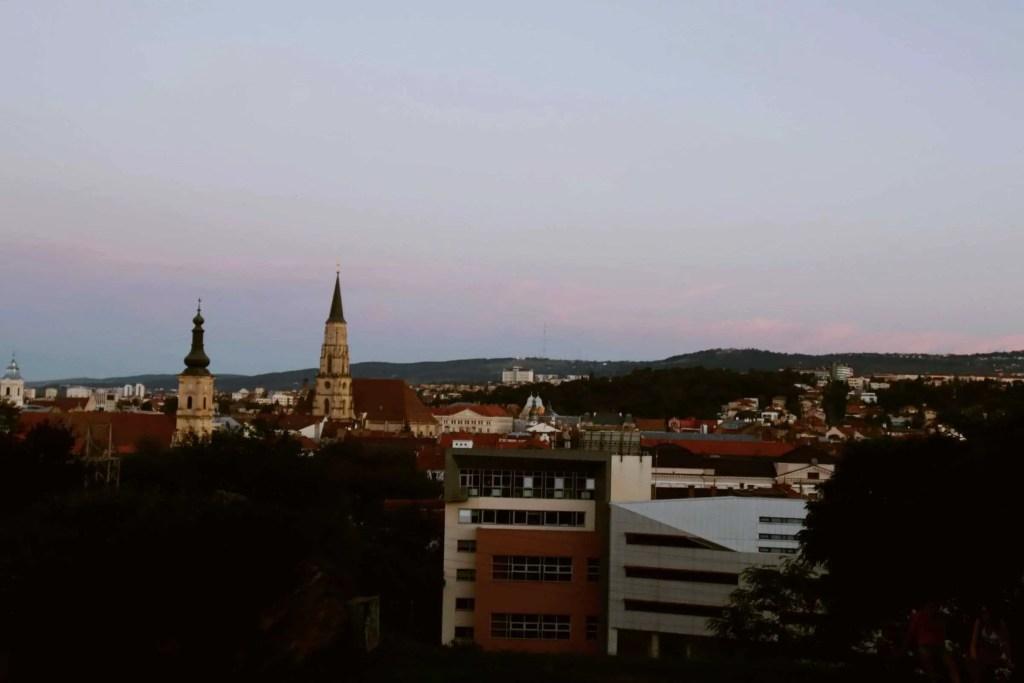 View from Cetatuia Park in Cluj Napoca, Romania