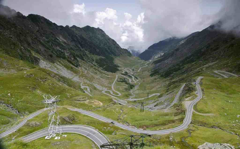 Transfagaras Highway in Romania, one of the most beautiful roads in Transylvania.