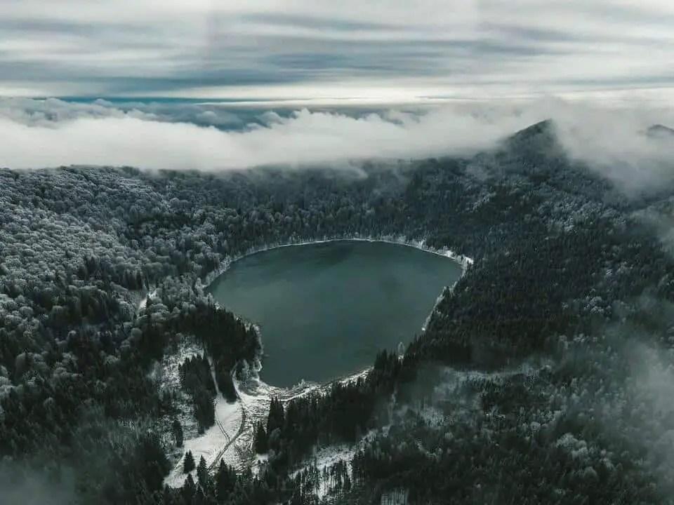Lacul Sfanta Ana, volcanic lake near Brasov.