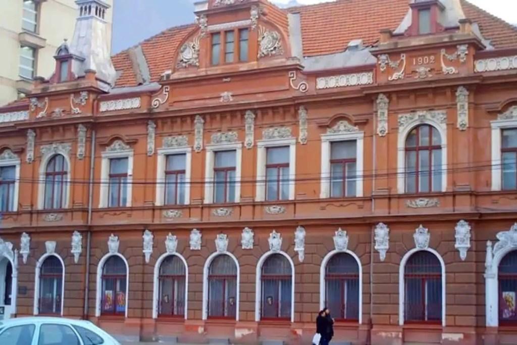 Outer façade of the Ethnographic Museum in Brasov, Transylvania, Romania