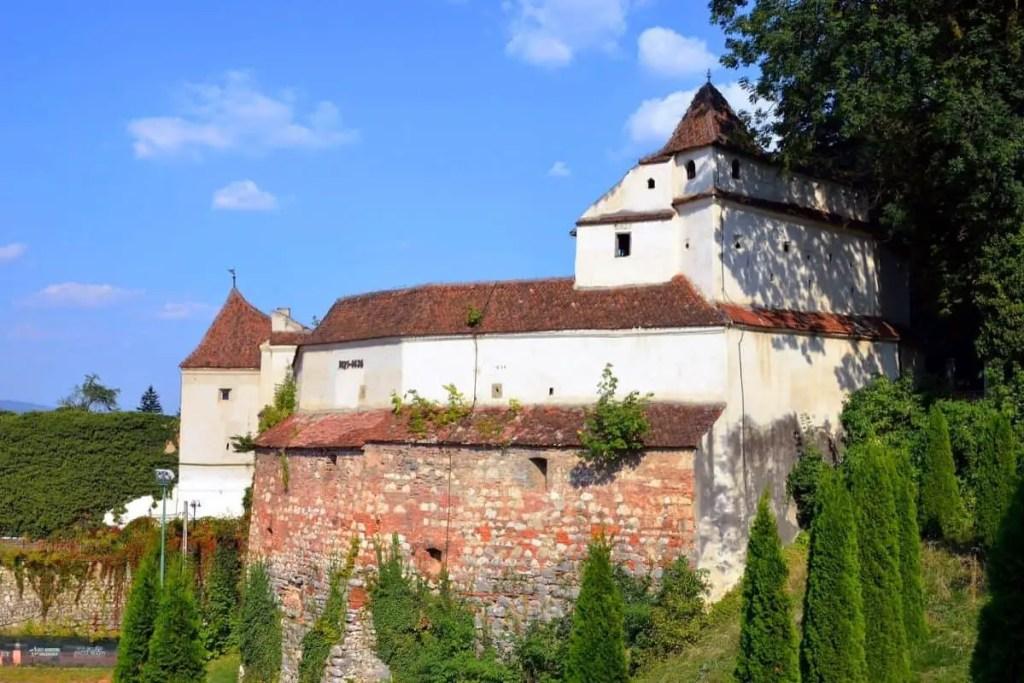 Weaver's Bastion in bright sunlight, Brasov, Romania.