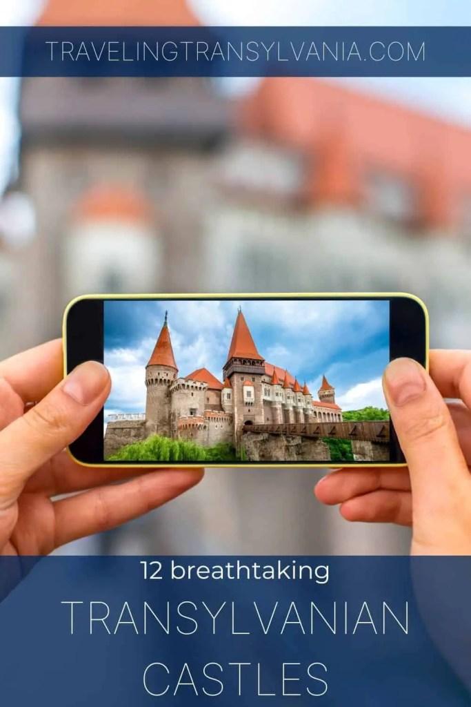 Pinterest graphic - 12 breathtaking transylvanian castles