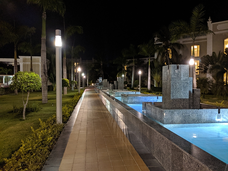 RIU Palace Bavaro Fountains at Night