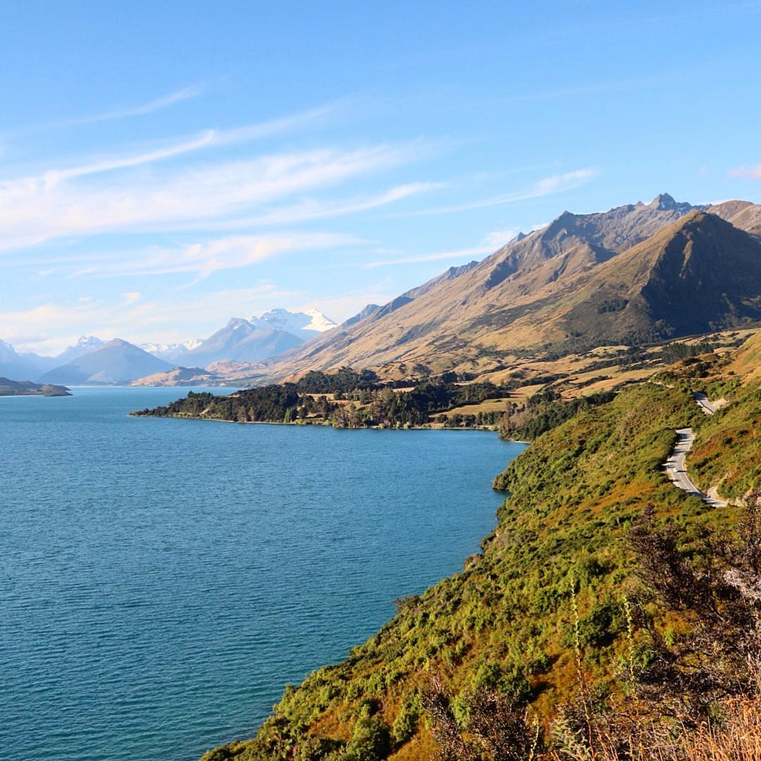 Scenic Drive Queenstown to Glenorchy Superb view of The Remarkableshellip