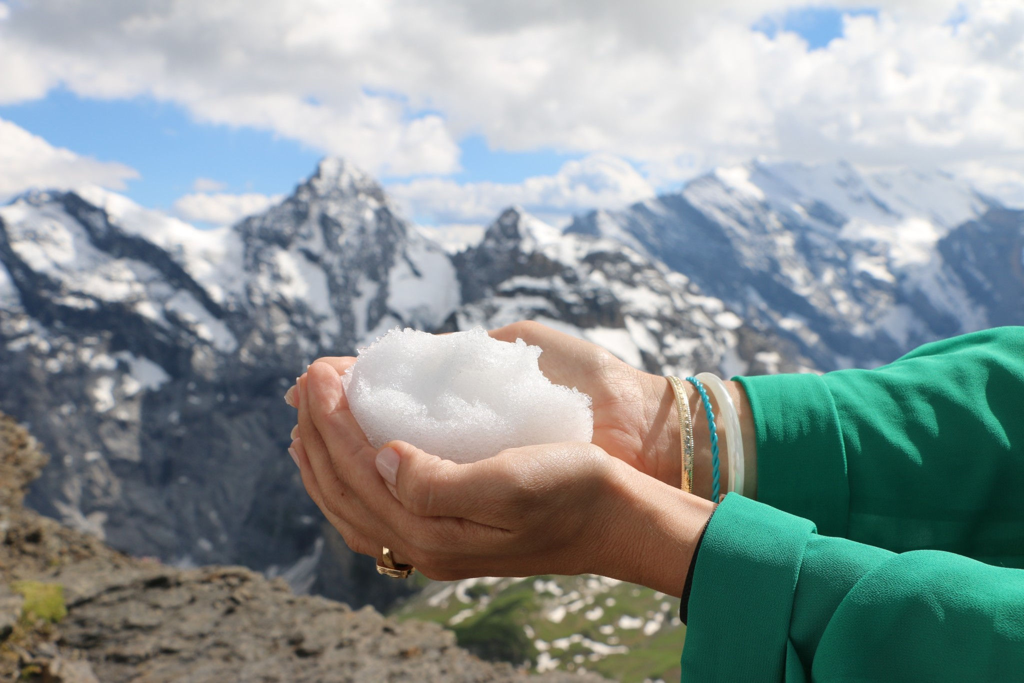 Snow in July│Schilthorn