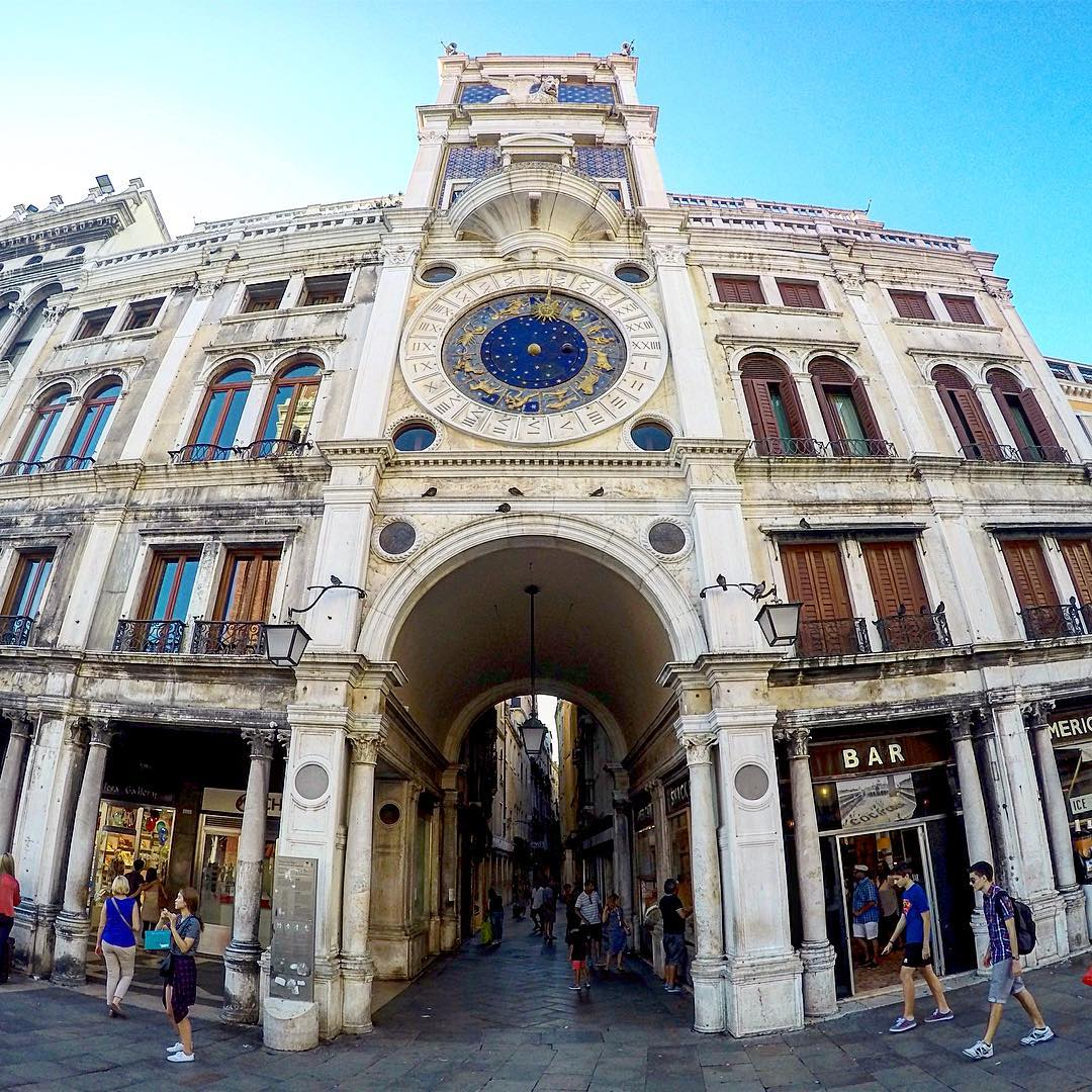 The Clock Tower in Piazza San Marco Venice This clockhellip