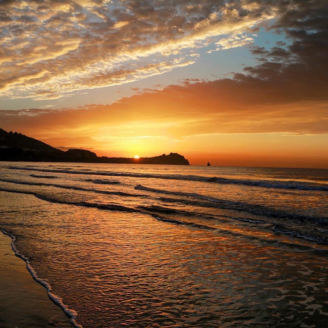 Qingdao Sunrise over Shilaoren Beach What a glorious sight Ihellip