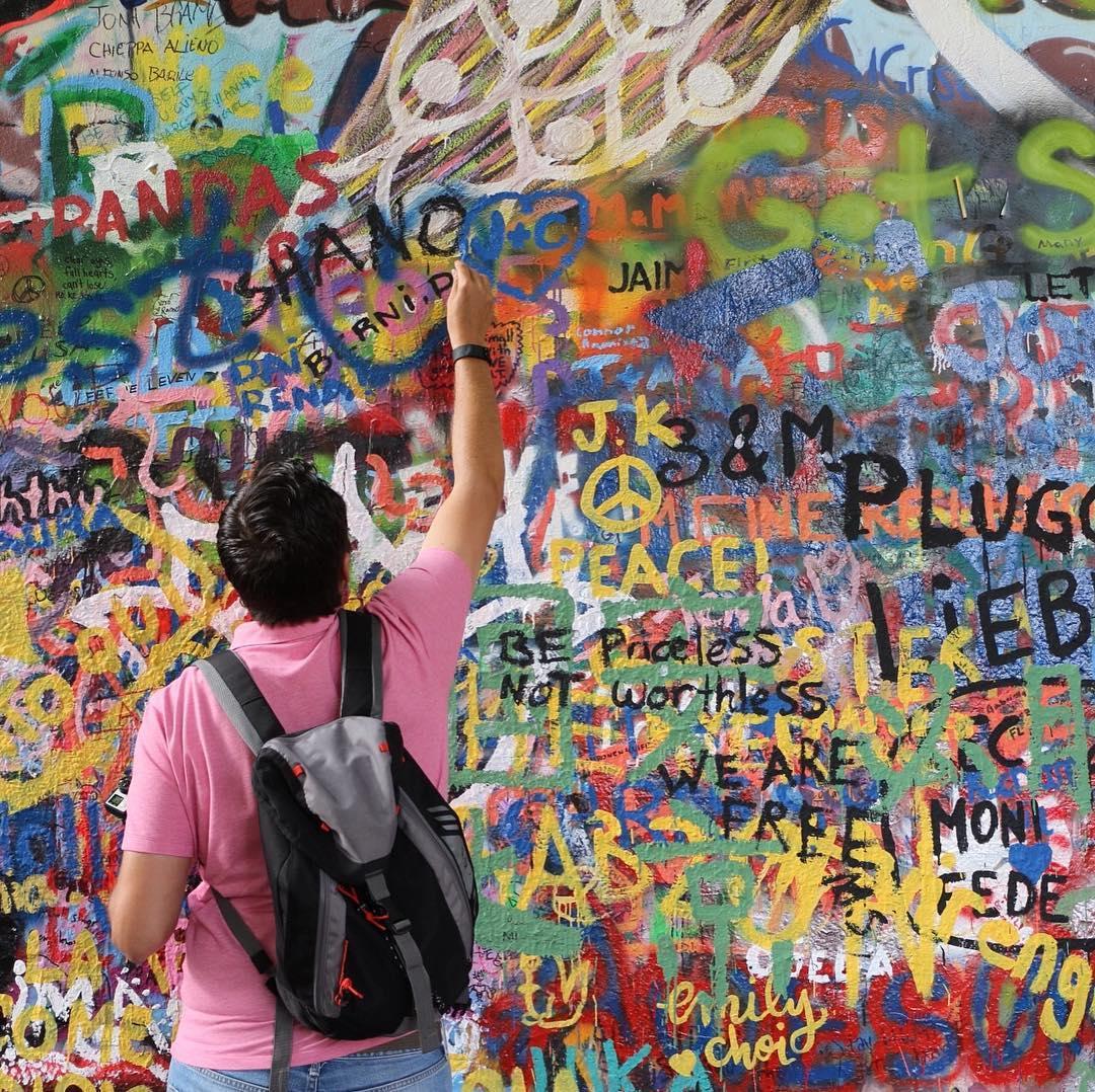 John Lennon wall in Prague Czech Republic Next week wehellip