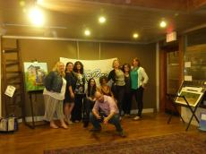 The ladies & owner of TurnRow Books