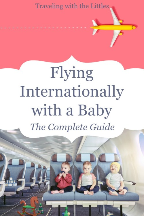 Flying internationally with an infant or baby-Pinterest image