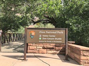 Zion National Park Pedestrian Entrance