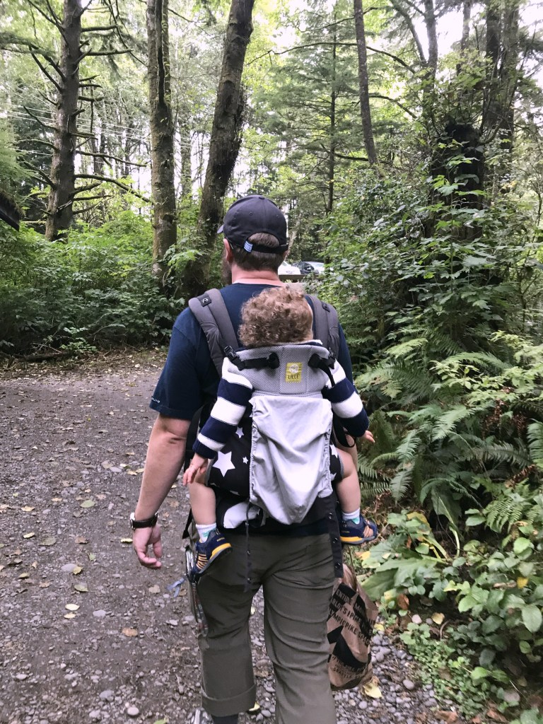Olympic National Park with Lillebaby baby carrier travel with small children